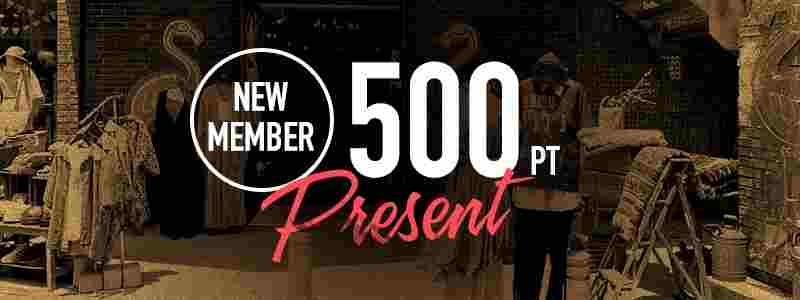 フラミンゴオンラインストアは新規会員登録で500ポイントプレゼント
